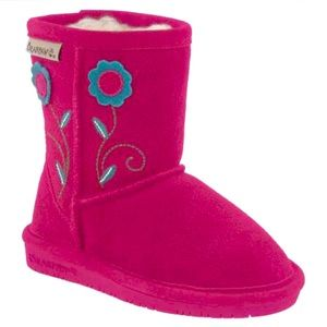 BearPaw Buttercup Boots Pom Berry